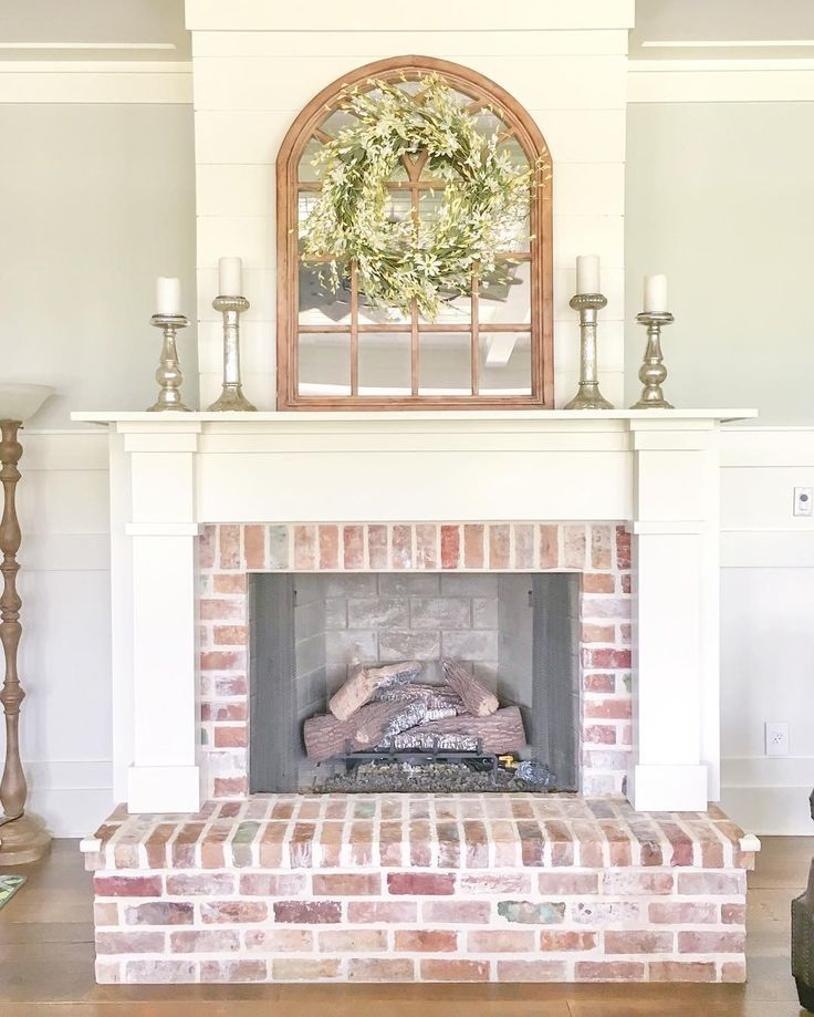 Best 25 brick fireplace remodel ideas on pinterest brick fireplace makeover update brick - Brick fireplace surrounds ideas ...