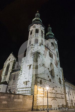 St. Andrew's Church on Grodzka Street by night - Krakow (Poland)