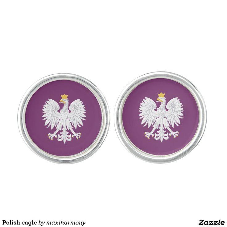 Polish eagle cufflinks