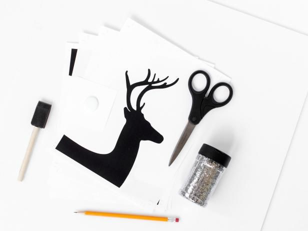 how to make a reindeer silhouette