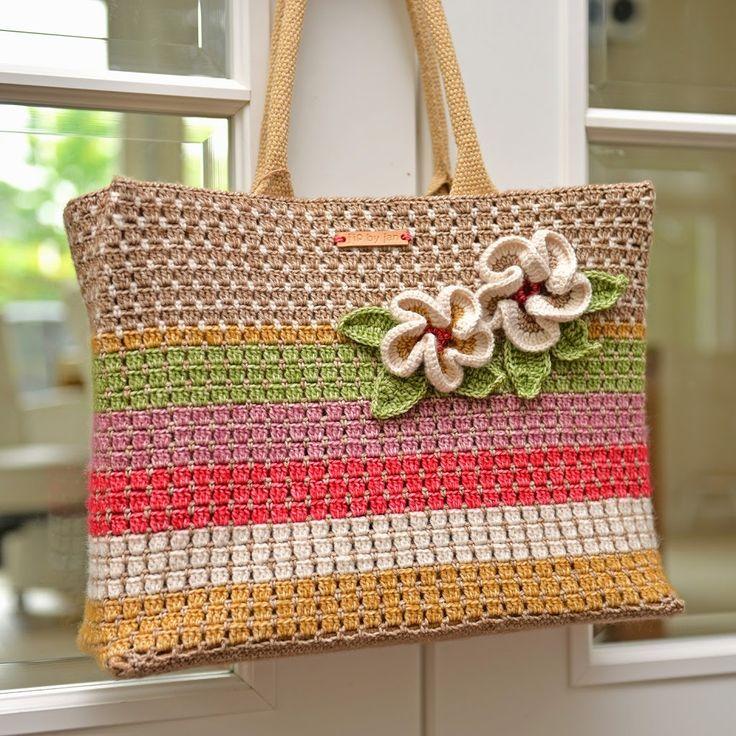 Crochet bag Scheepjeswol Stone Washed Jip by Jan