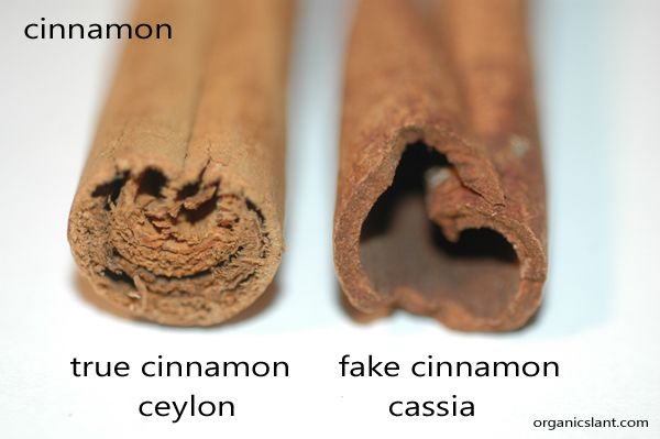 "Real Cinnamon vs. Fake Cinnamon -- True cinnamon is usually labeled ""Ceylon cinnamon"" & comes principally from Sri Lanka, India, Madagascar, Brazil & the Caribbean. Cassia, on the other hand, is often designated as ""Chinese cinnamon"" or ""Saigon cinnamon"" & comes principally from Indonesia, China, Vietnam, Japan & Korea."