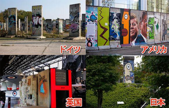 日本にもあるよ。世界各地に設置されたドイツ・ベルリンの壁の記念碑