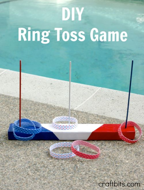 DIY Ring Toss Game – 4th of July Party Game