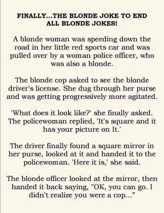 Blonde Easter Joke