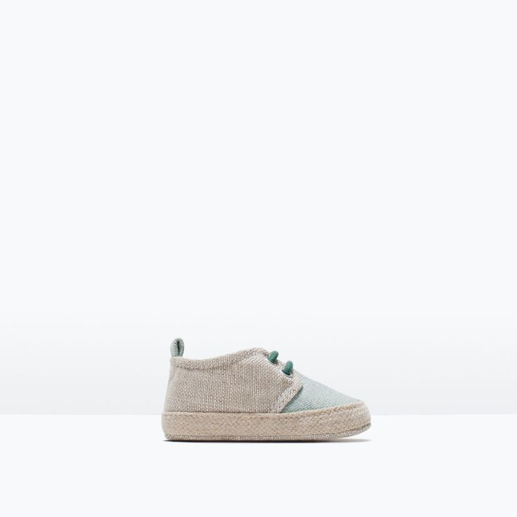 $25   //  Image 1 of FABRIC SHOES WITH LACES from Zara