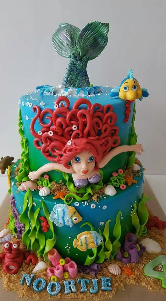 539 best images about cakes under the sea on pinterest for Ariel cake decoration