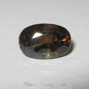 Batu Mulia Zircon Brownish Orange Eksotis 2.17 carat