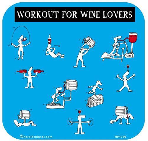 Exercício físico para os apreciadores de vinho / Workout for wine lovers