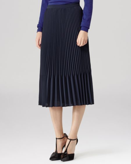 REISS Skirt - Baltimore Pleated Midi
