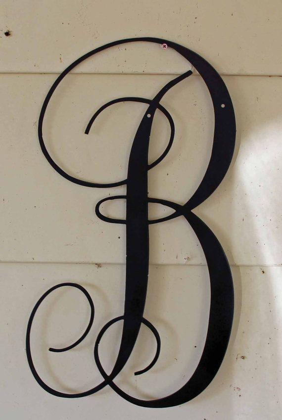 Black script metal letter quotbquot for 3 inch black metal letters