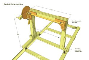 """14"""" bandsaw / sawmill plans for sale"""
