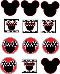 Mickey Stickers, Mickey Mouse, Stickers - Free Printable Ideas from Family Shoppingbag.com