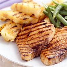 Pineapple Grilled Halibut Recipe - 4 Point Value - LaaLoosh. Wish I could afford halibut more often, the only fish I really love!
