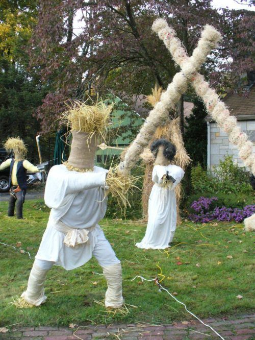 11 best scare crow images on Pinterest Scare crow, Scarecrow ideas - halloween scarecrow ideas