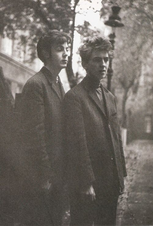 "thateventuality: Scan - Paul and George, Hamburg Photo: Astrid Kirchherr ""When I look back at the early pictures that I took of The Beatles, they seem so young. But at the same time, they had experienced so much. It was a real contrast, and I tried to capture both sides of their personalities in these photos."""