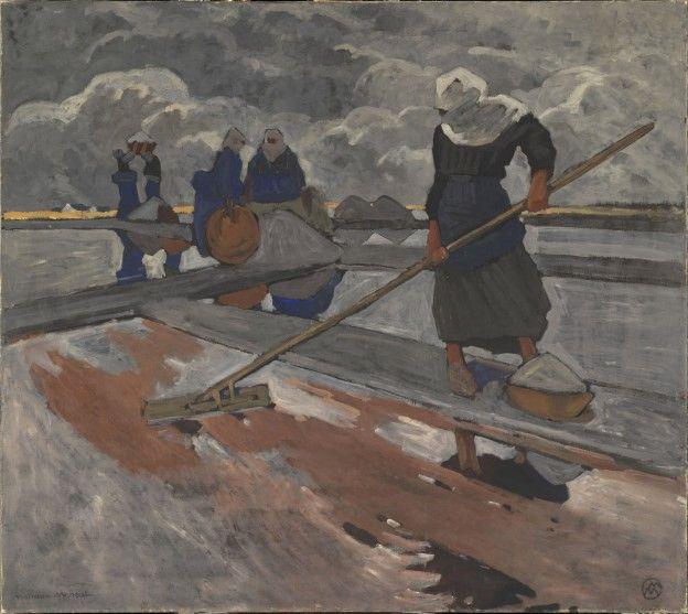Mathurin Meheut: Ramasseuses de Sel à Guérande. 1928.