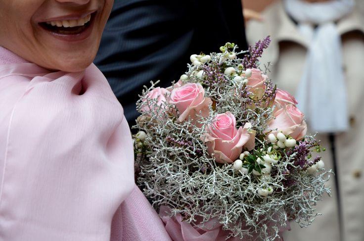 Bouquet con Calocephalus