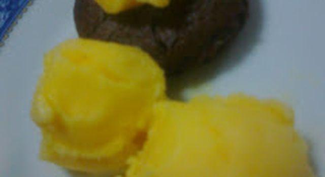 Gelado de tangerina!!