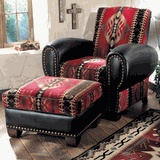 Rustic Chairs & Old Hickory Ottomans