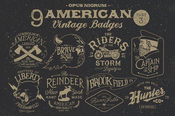 American Vintage Badges Part.3 by OpusNigrum on @creativemarket