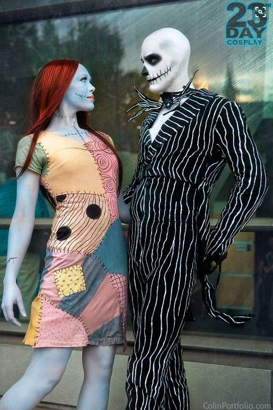 17. Jack Skellington y Sally.