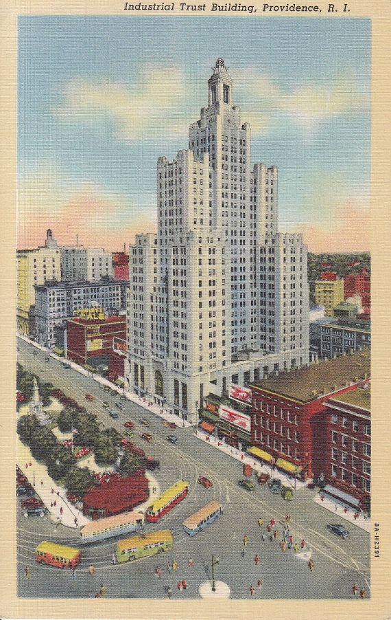 Providence Rhode Island Vintage Postcard by PostcardClassics