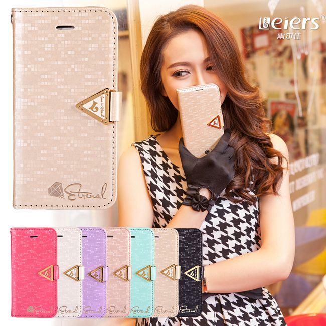 1PCS Luxury LEIERS Eternal Series New Gold Bling PU Leather Wallet Phone Cover Case for iPhone 5G 5 5S with Metal Button $9.80