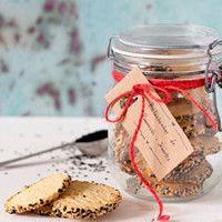 Bolachinhas de parmesão e sementes
