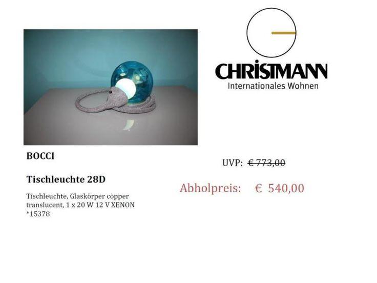 Angeboten wird hier eine Tischleuchte der Firma Bossi Modell 28D,Glaskörper copper translucent/blau 1 x 20 W 12 V XENON*15378AusstellungsstückPreis inkl. MehrwertsteuerNur Abholung!