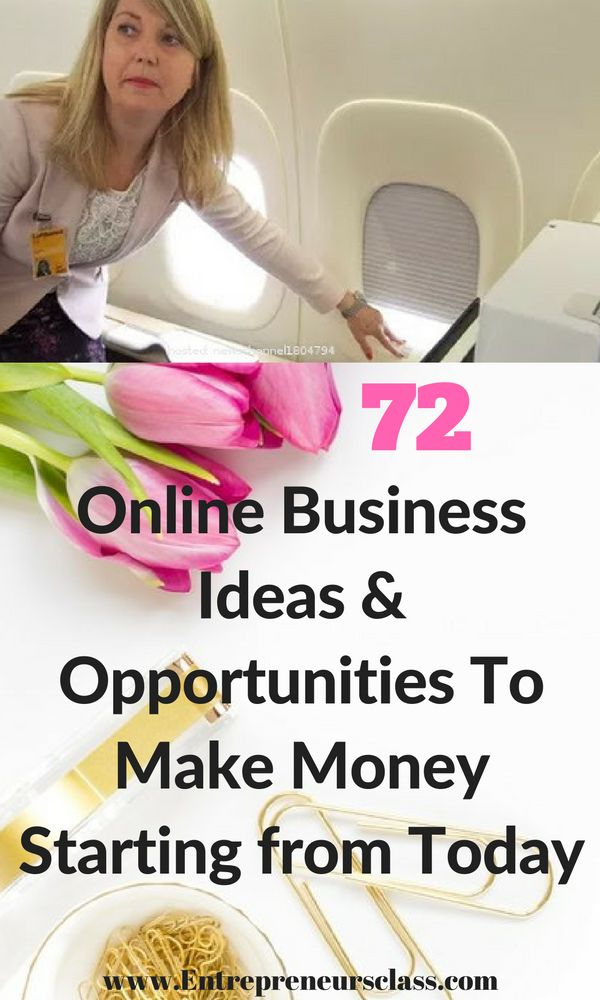 72 online business opportunities to make money starting from today.