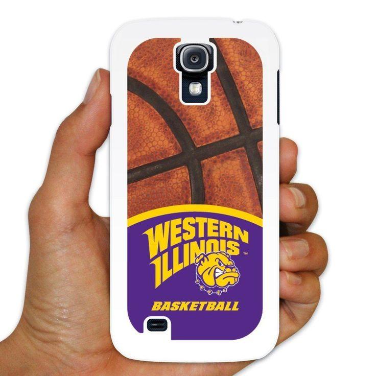 "Western Illinois Samsung Galaxy S4 Case "" Basketball Background """