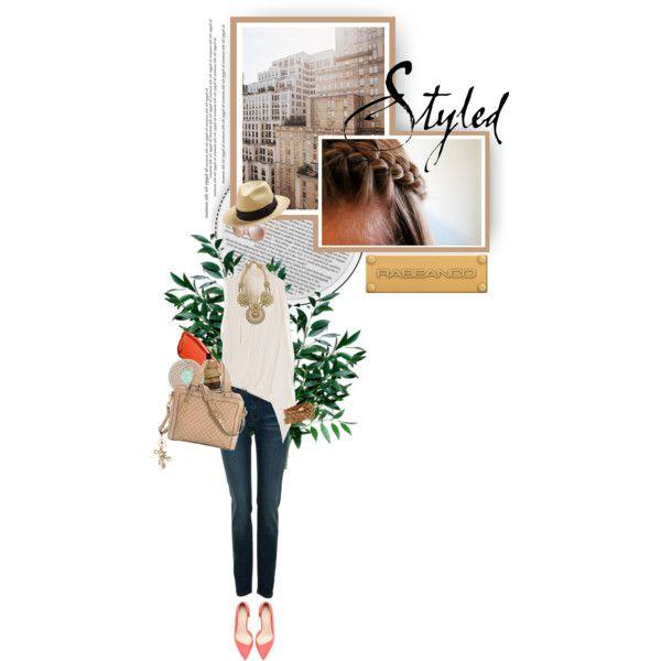 Casual Chic by maude-lebowski on Polyvore featuring moda, Gold Hawk, A|Wear, Zara, RABEANCO, Dori Csengeri, ADA Collection, San Diego Hat Co., Burberry and Hourglass Cosmetics