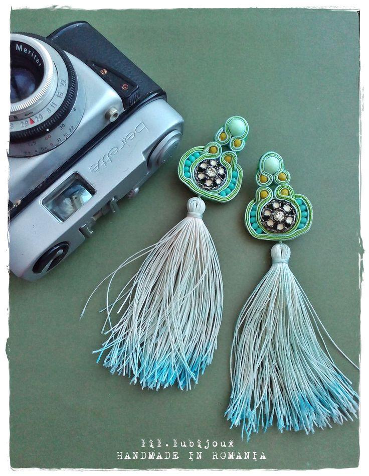 Soutache earrings ~ Ombre