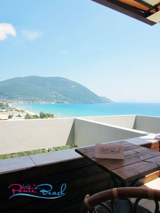 Vassiliki bay from Ponti beach hotel