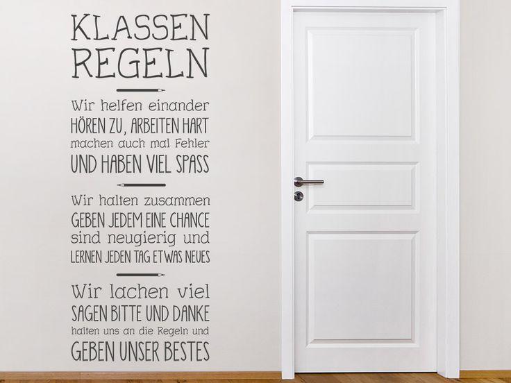 Für Die Wände In Der Schule: Wandtattoo Klassenregeln Von WANDTATTOO.DE