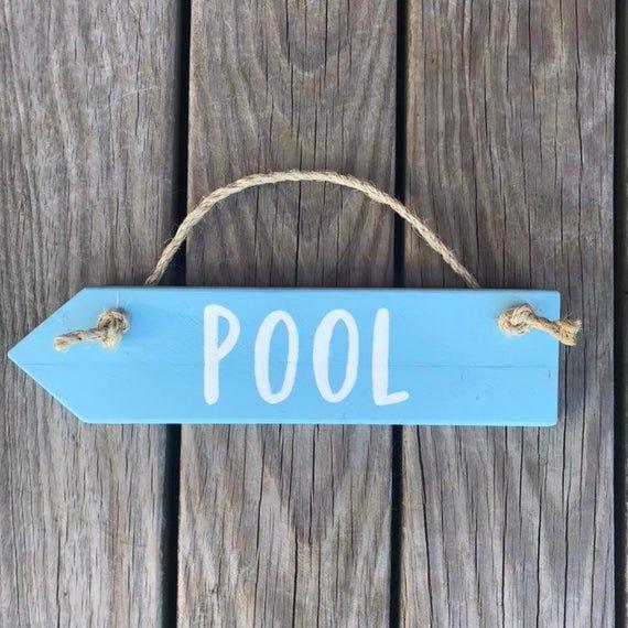 Pool Arrow Sign Beach Direction Sign Beach House Sign
