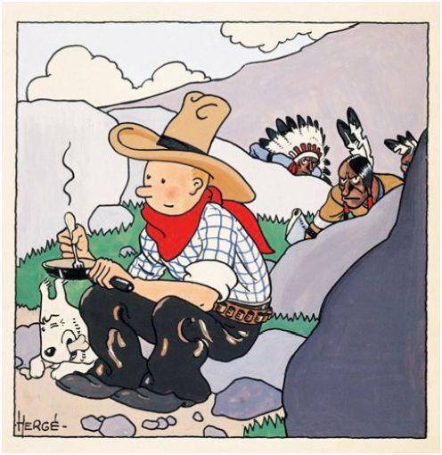 Tintin Comic Book Art Sets Auction Record - artmarketblog.com