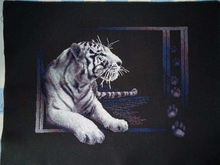 Тигр набор Panna #cross_stitch #вышивка_крестом