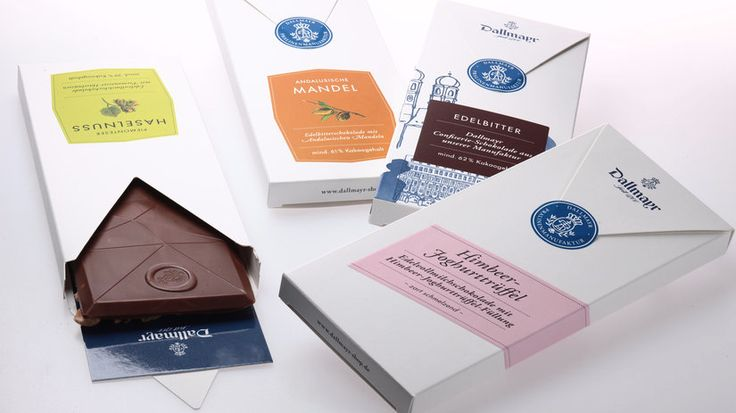 Elegant and minimalistic chocolate packaging from German design studio FPM.  http://www.factor-product.com/kunden/alois_dallmayr