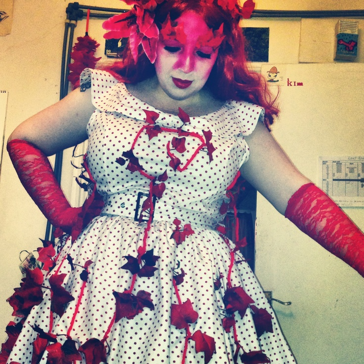 Red Weed Dress for White Mischief's War of the Worlds Ball