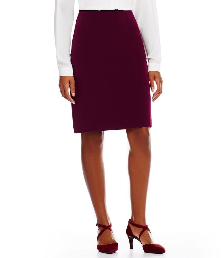 Alex Marie Ann Twill Crepe Suiting Skirt #Dillards