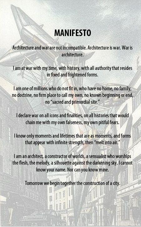 Lebbeus Woods Manifesto