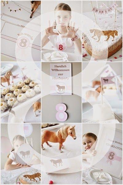 Am Samstag hat Charlotte ihren 8. Geburtstag gefeiert. Diesmal hatte sie sich eine Pferdeparty gewünscht und wir haben alles wieder ähnlich...