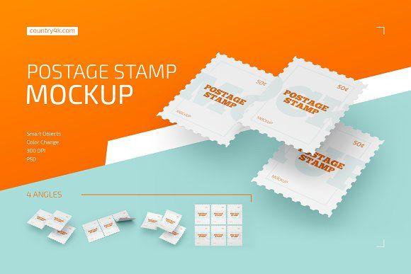 Postage Stamp Mockup Set Business Card Mock Up Stationery Mockup Mockup