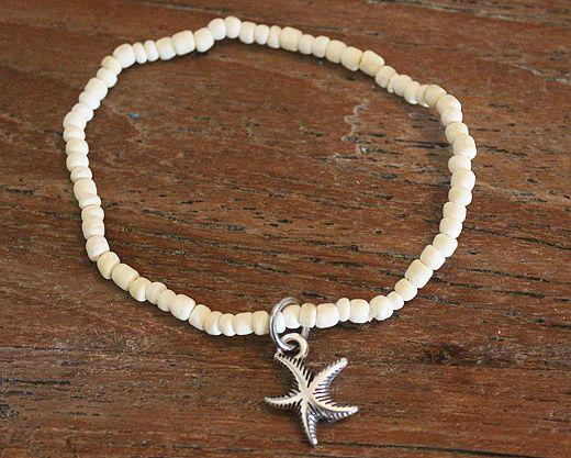 MiniKiddi Armband Zomer '16  Kokoskralen met zeester