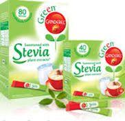 Green Canderel Stevia ei reikiinnytä hampaita.