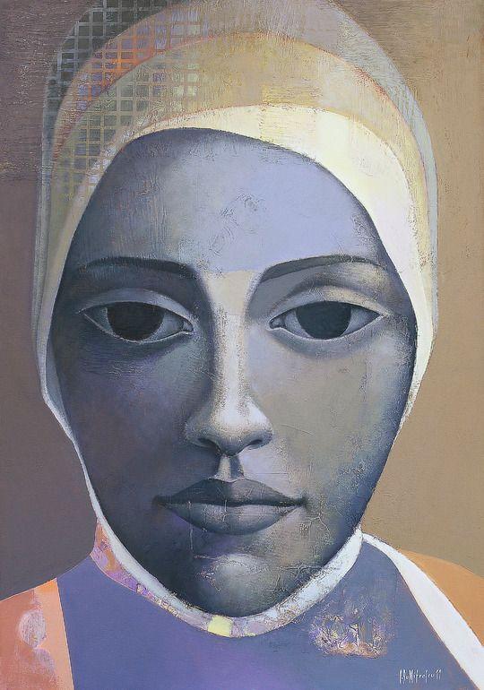 "Saatchi Online Artist: sorin dumitrescu mihaesti; Acrylic, Painting ""Portrait X"""