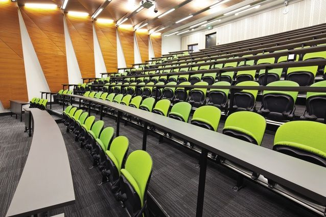 Lecture hall in the new Medical and Health Sciences building.