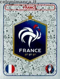 UEFA EURO 2016™ Official Sticker Album: Fronte Figurina n. 10 France Logo